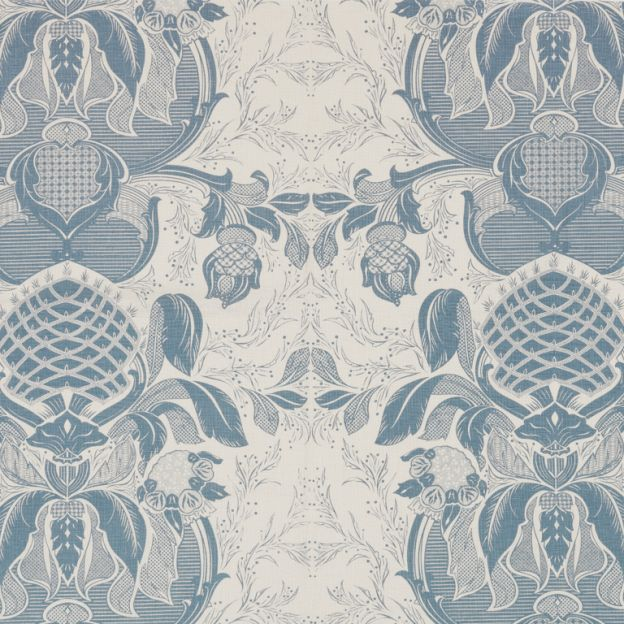 Circium Blue on White  - available in one other colorway