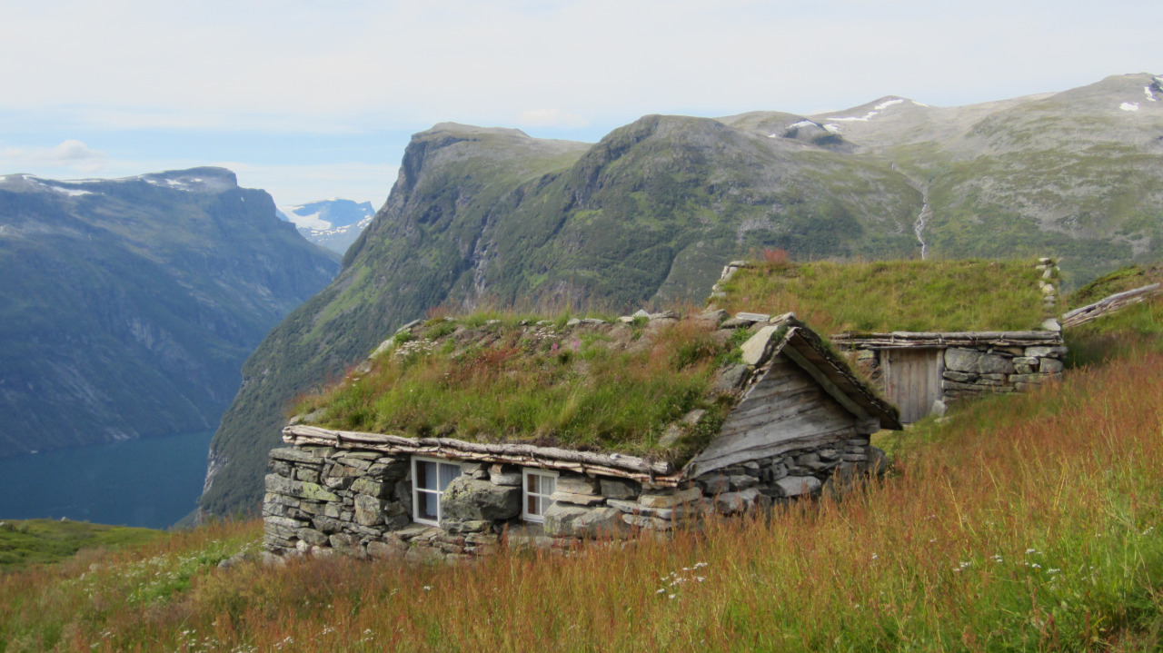 Stone huts  in Geiranger, Norway