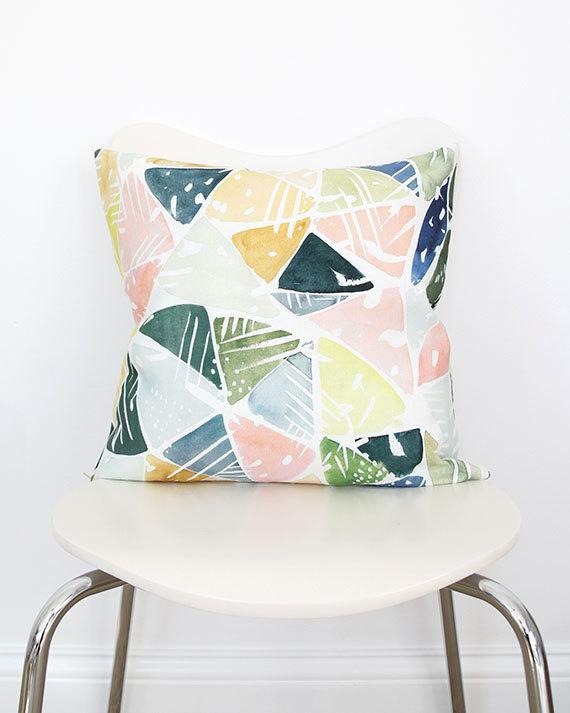 Emerald Green Triangle Pillow