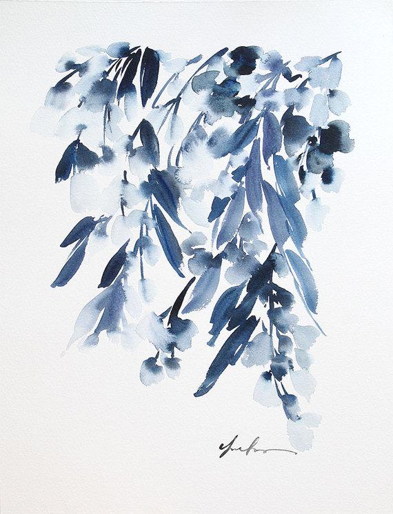 Yao Cheng -  Wisteria in Indigo II
