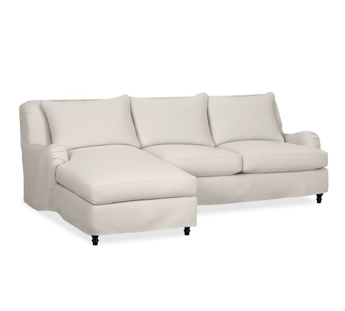Carlisle Slipcovered 2-Piece Chaise Sectional