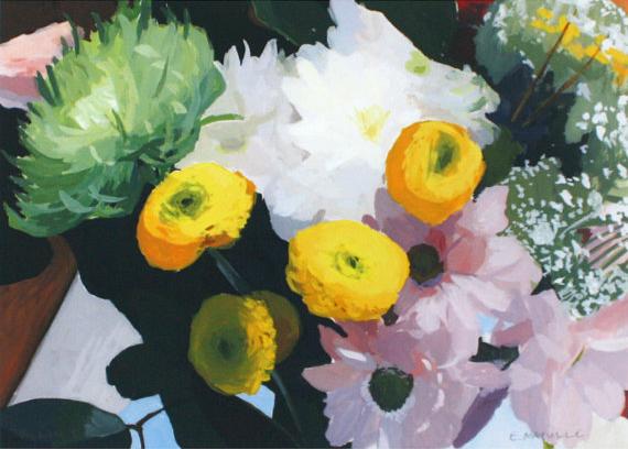 """Elizabeth Mayville - 5"""" x 7"""" flower print -  """"Bouquet 3"""""""