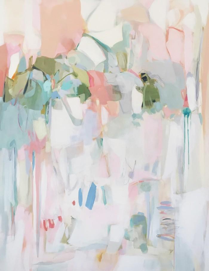 "Christina Baker -  Japanese Poetry  - Acrylic on Canvas - 30"" x 40"" - 2016"