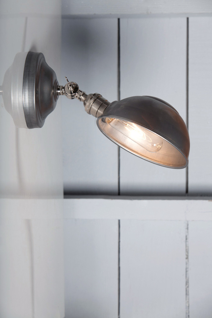 metal shade wall sconce