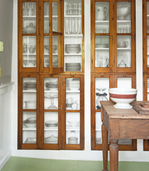 new uses for antique display cases | 10.28.2015