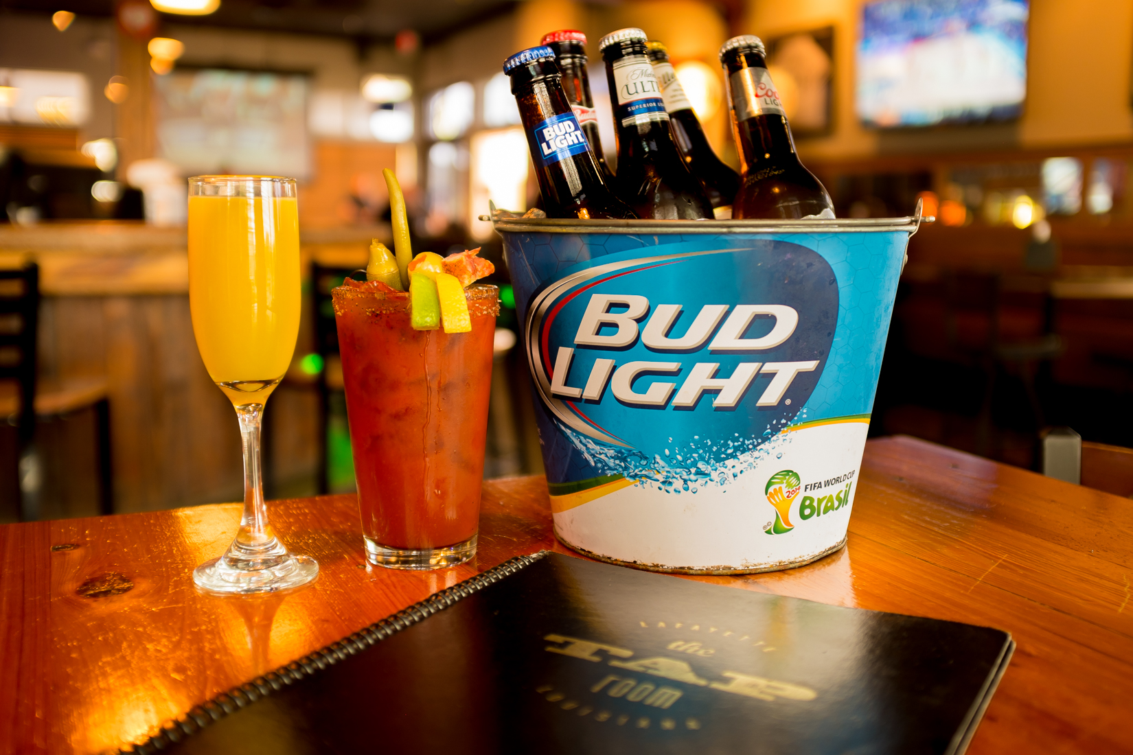 Sunday Funday: - ALL DAY$9 domestic buckets$4 Bloody Mary's$4 Mimosas all day