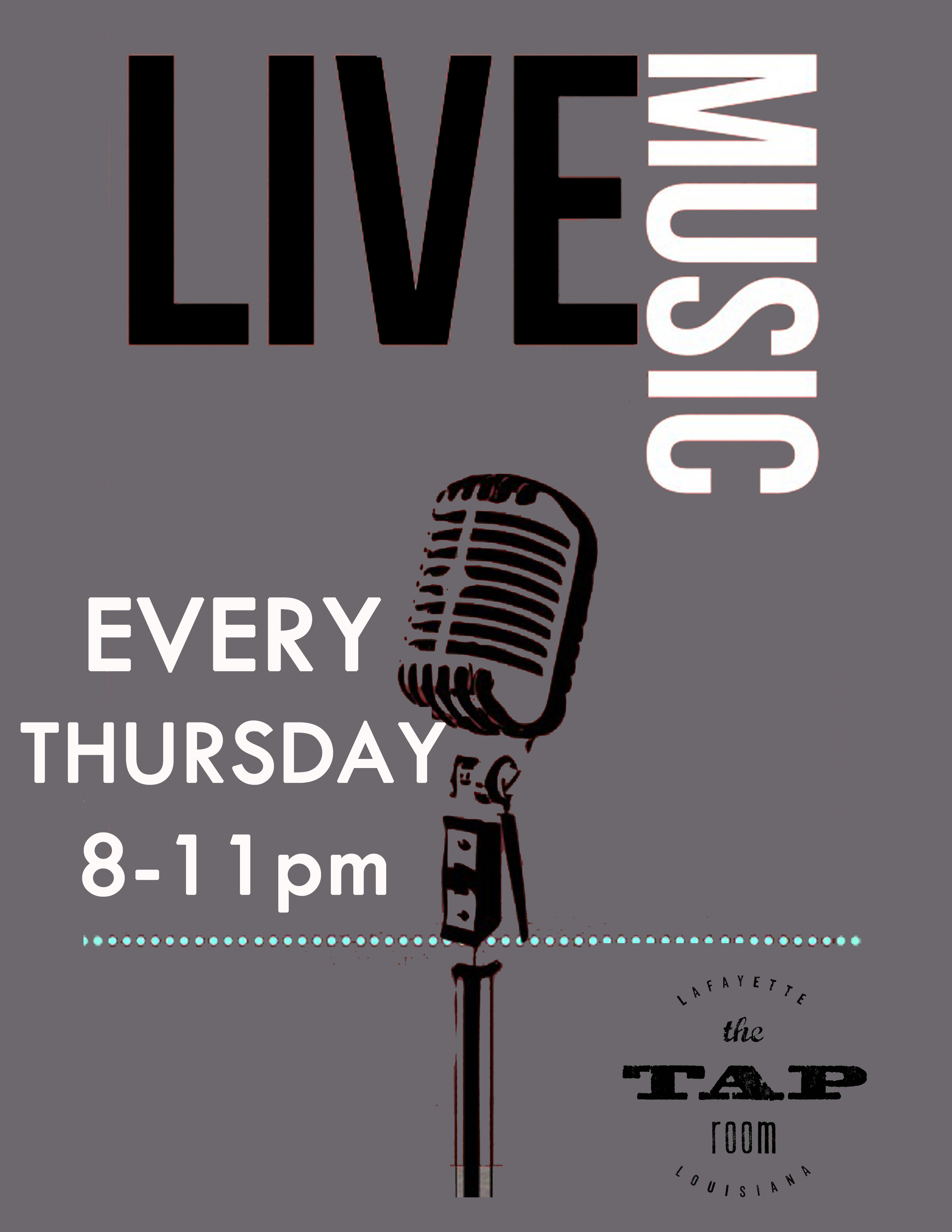 ThursdaySpecial: - LIVE MUSIC 8:00-11:00PM$5.00 Jack & Crown all night