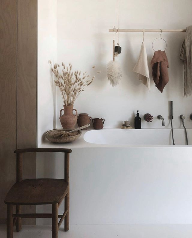 "| suds | soaking up every bit of this beautiful bath design by @tessahop. This Dutch stay-at-home mom (of four!) brilliantly captures her family and home in the most angelic and serene way. We love the natural materials used in the home she and her husband designed and built in Amsterdam. You'll find simplicity and honesty in their material choices to create a well-lived and peaceful home.  You will definitely want to ""hop"" over to her feed to truly admire and appreciate the life she has beautifully documented one image at a time. She is a true natural. . . . #scandinavianhome #scandinaviandesign #modernscandinavian #wabisabistyle #wabisabi #nordicspace #simplethingsinlife #simpledecor #simpledesign #backtothebasics #interiorarchitectureanddesign #interiors #interior2you #interiordesign #interiorinspo #interiordecorating #naturalmaterialsarebeautiful #naturalmaterialsforkids #naturalbuildingmaterials #allnaturalmaterials #architecturaldetail #bathgoals #bathroomdesign #bathroomremodel"
