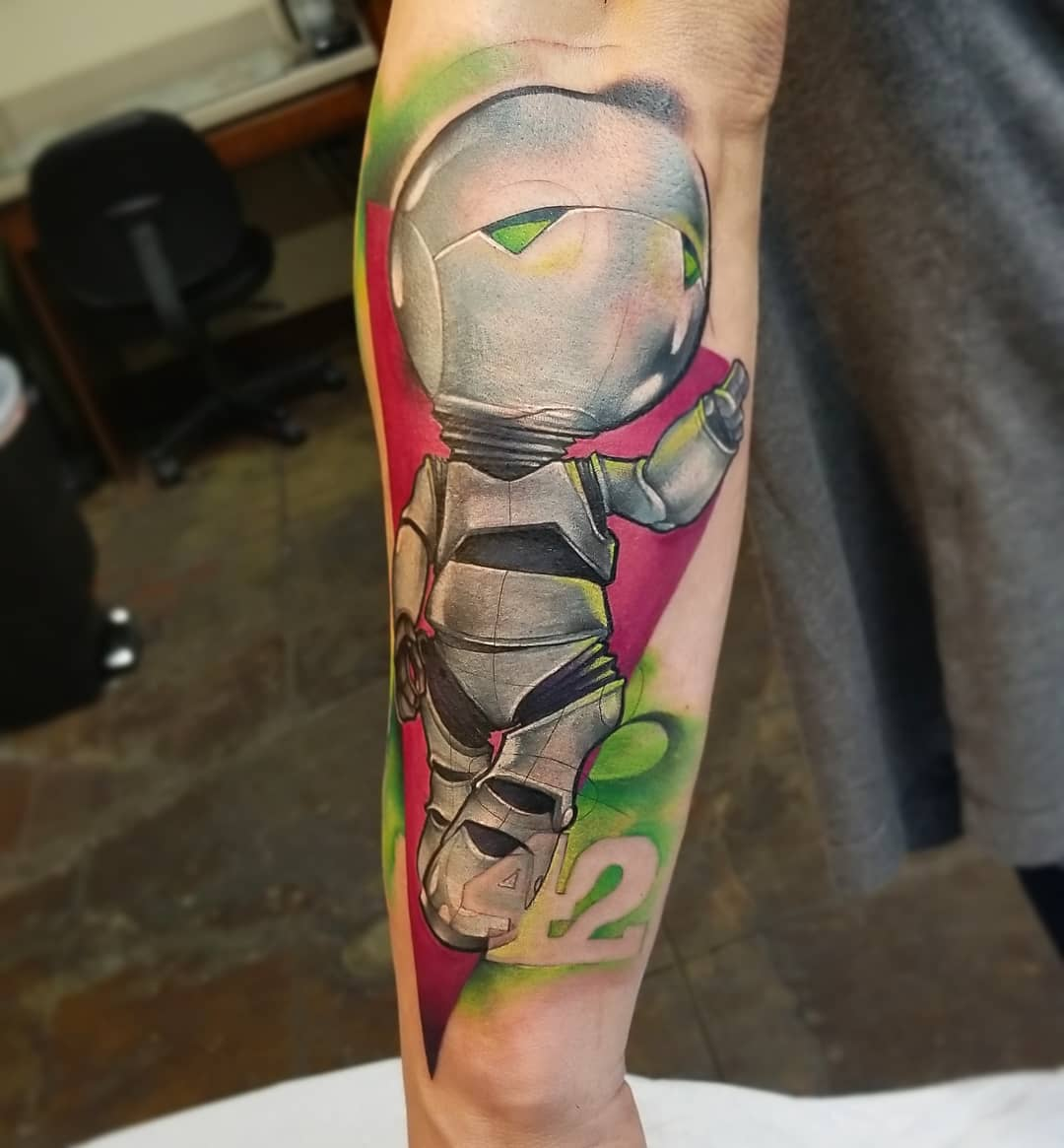 Watercolor Tattoo Marvin Hitchhikers guide to the galaxy.jpg