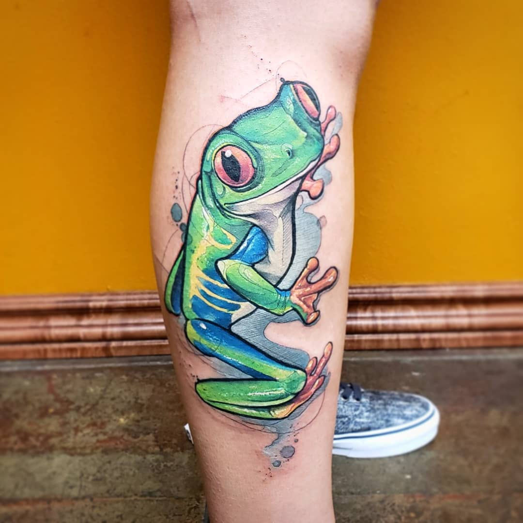 Watercolor Tattoo Tree Frog.jpg