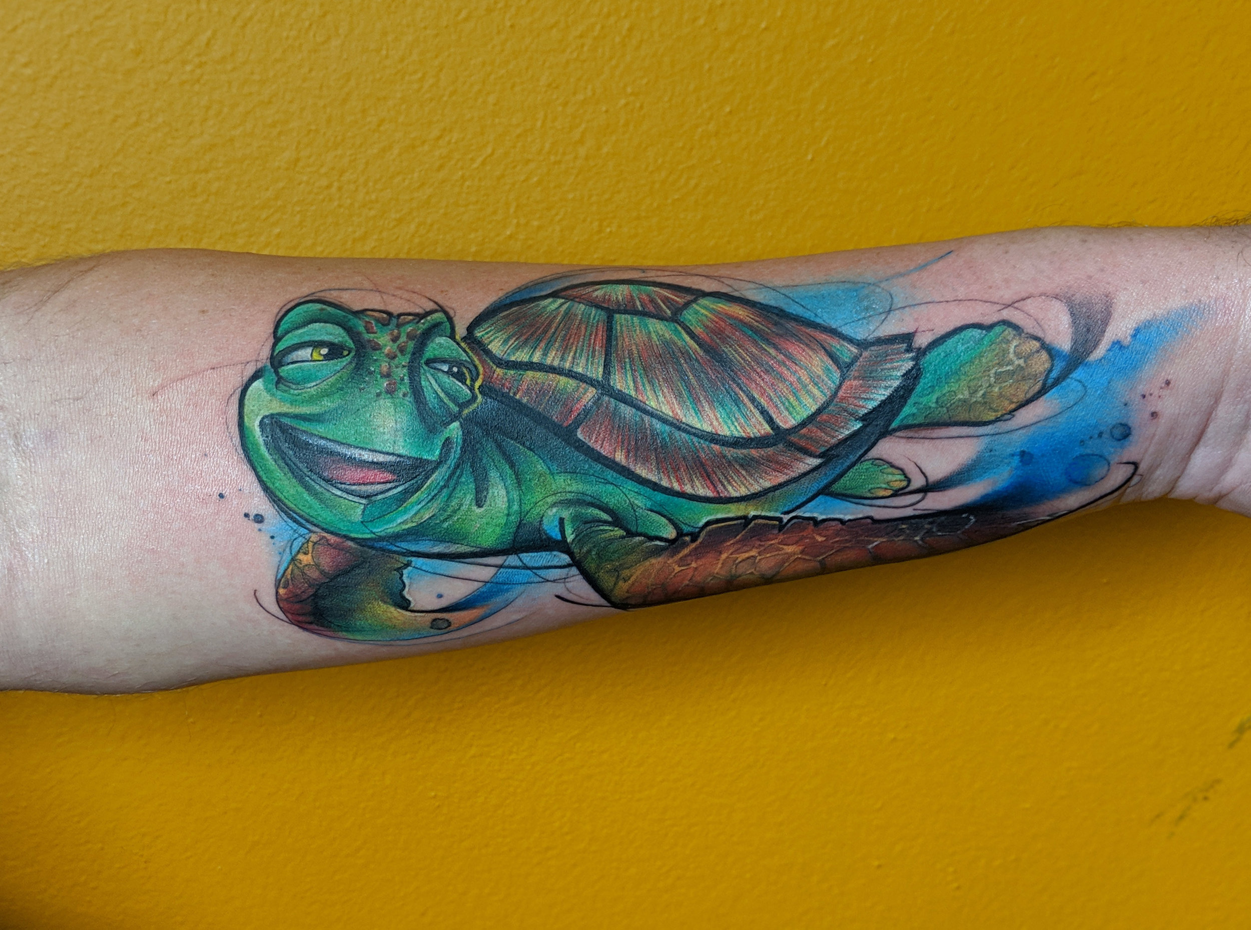 Watercolor Tattoo  Disney Finding Nemo Crush.jpg