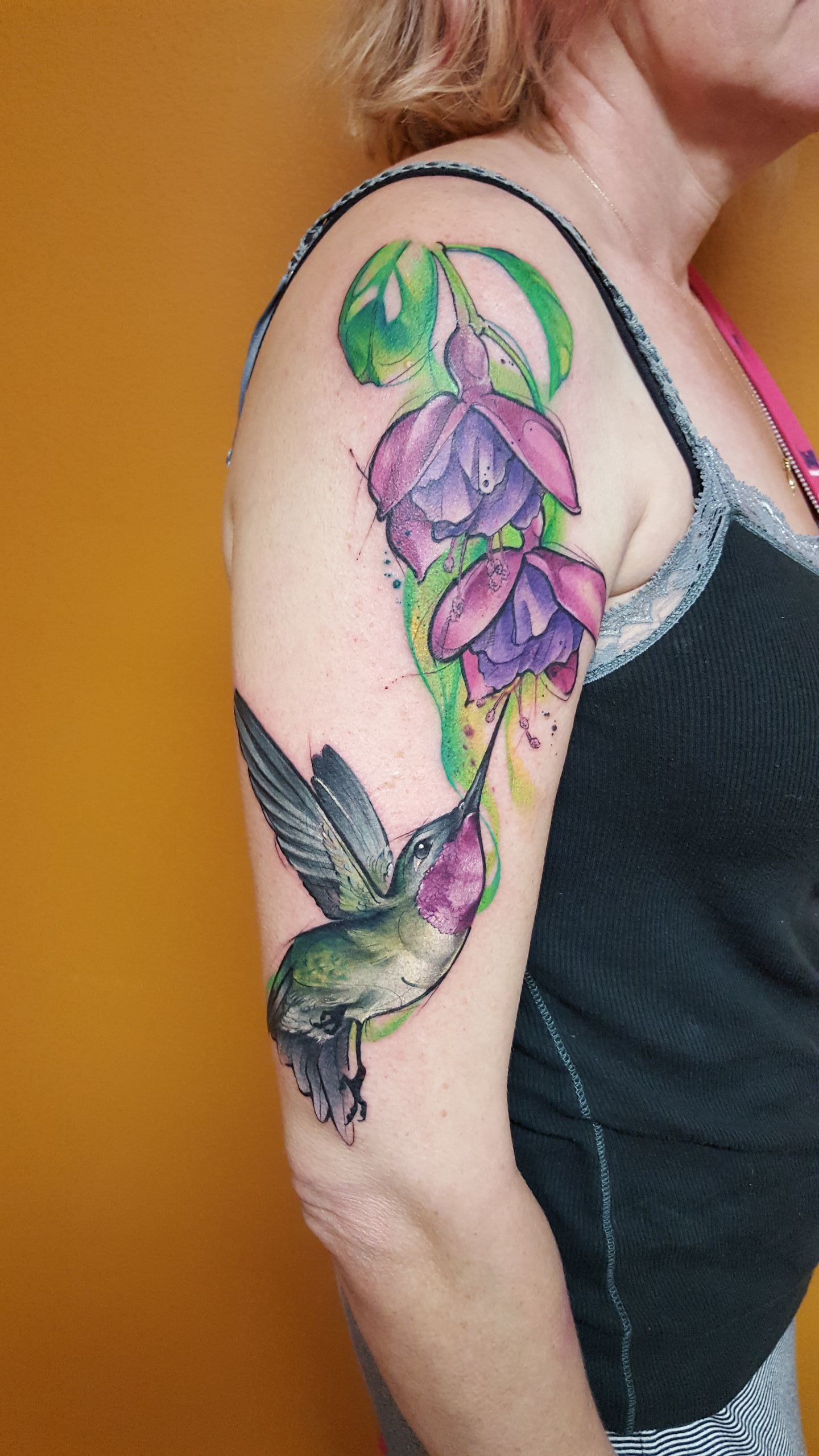 Watercolor Tattoo Annas Hummingbird Flower.jpg