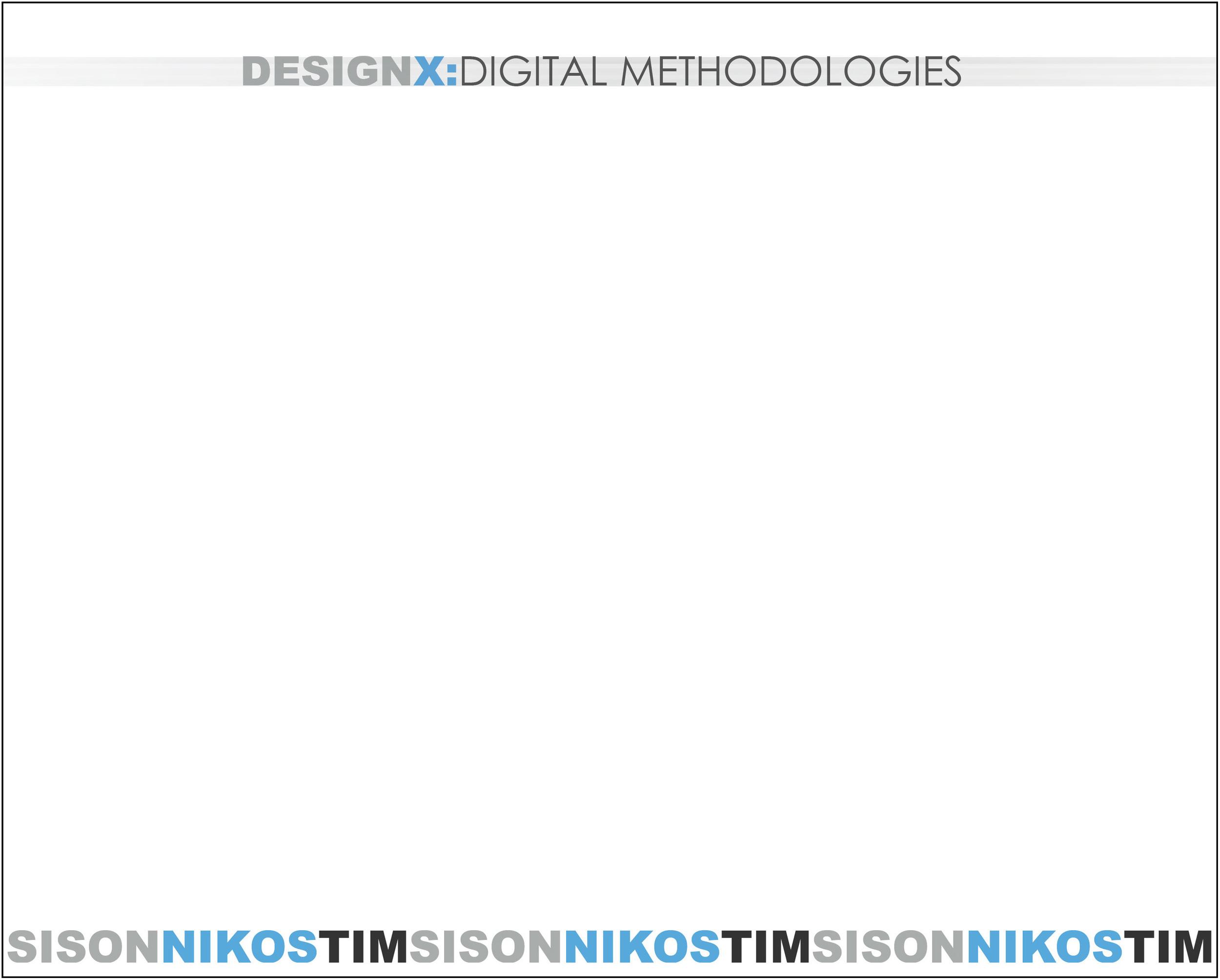 Design X: Digital Methodologies