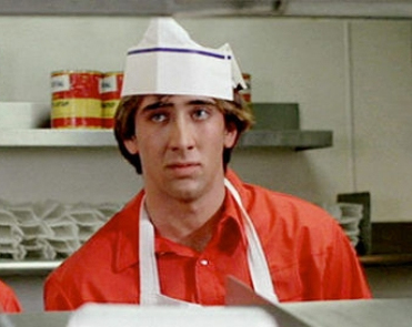 Even the veritable Nicholas Cage appeared in Fast Times at Ridgemont High. Amazing.