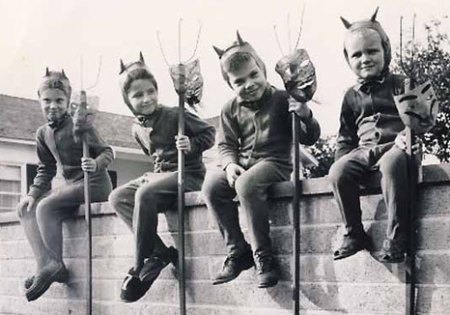 These little devils will grow up to be big devils. Then they will stuff us in our lockers.