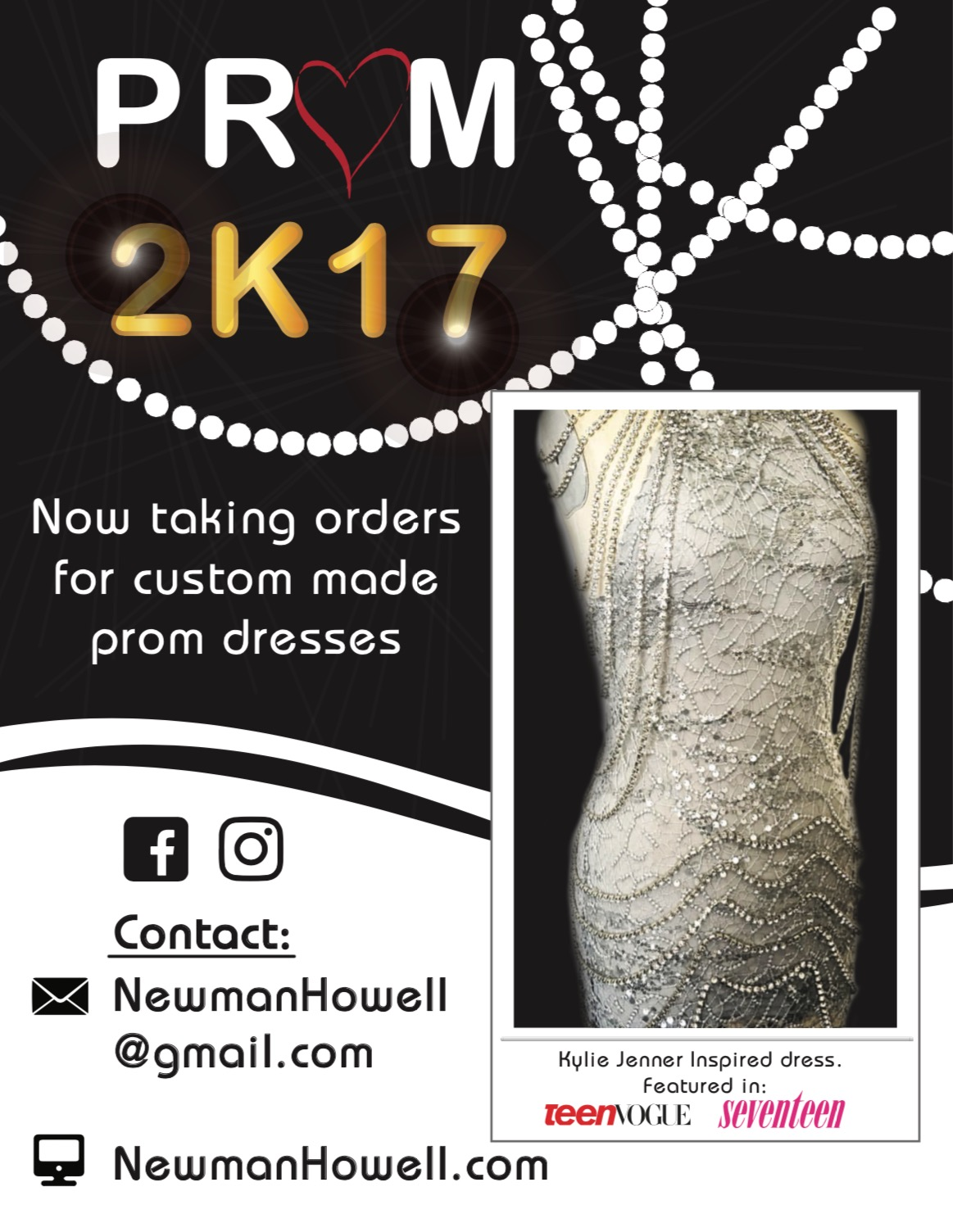 The New Flyer for Prom 2K17 Featuring The Kylie Jenner Inspired Dress!!!