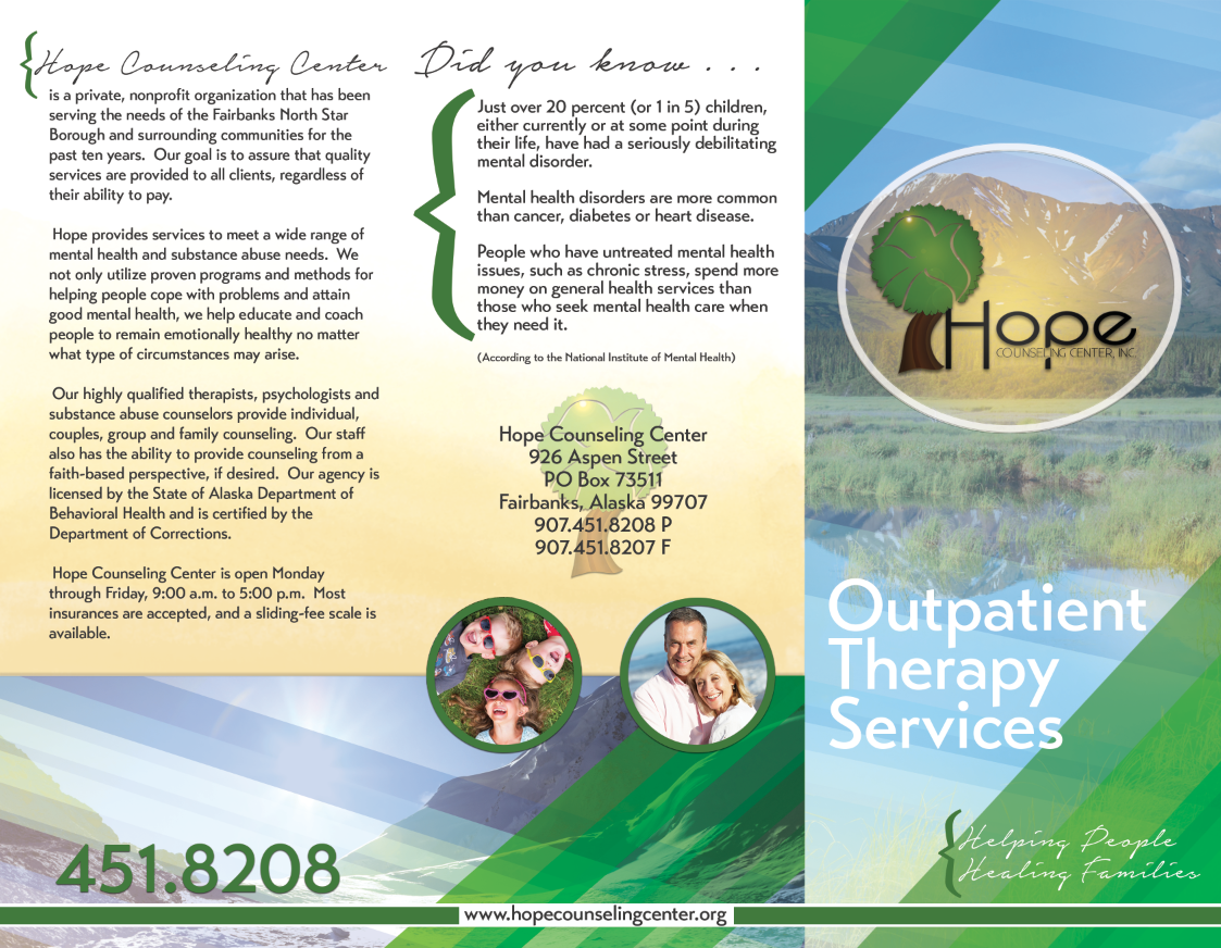 "Tri-Fold Brochure Outside<a href=""#"">◉</a><strong>Hope Counseling</strong>"