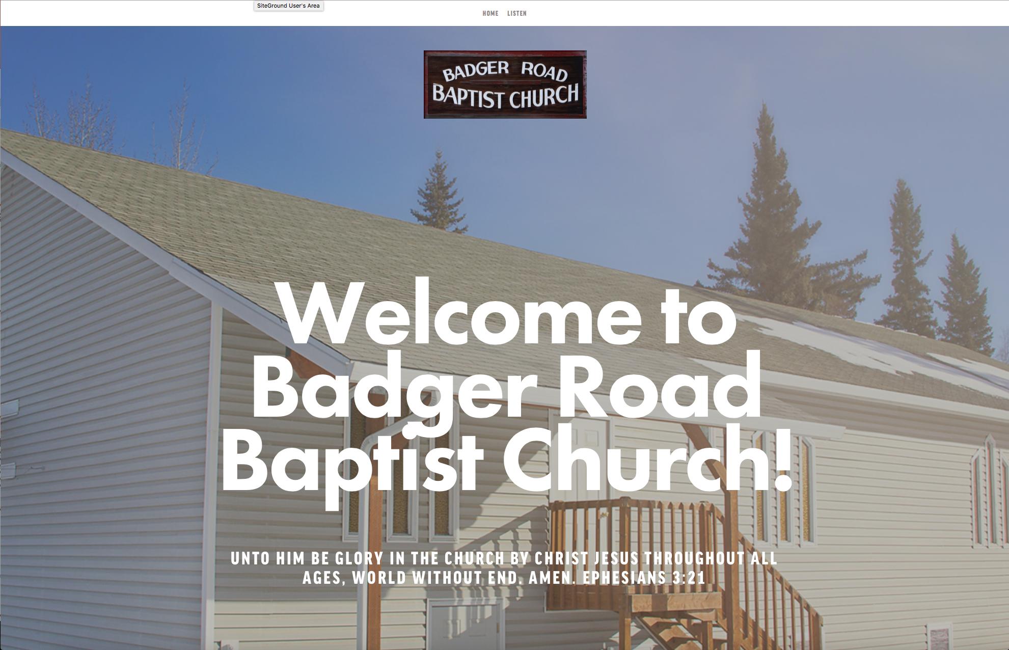 Badger Road Baptist Church