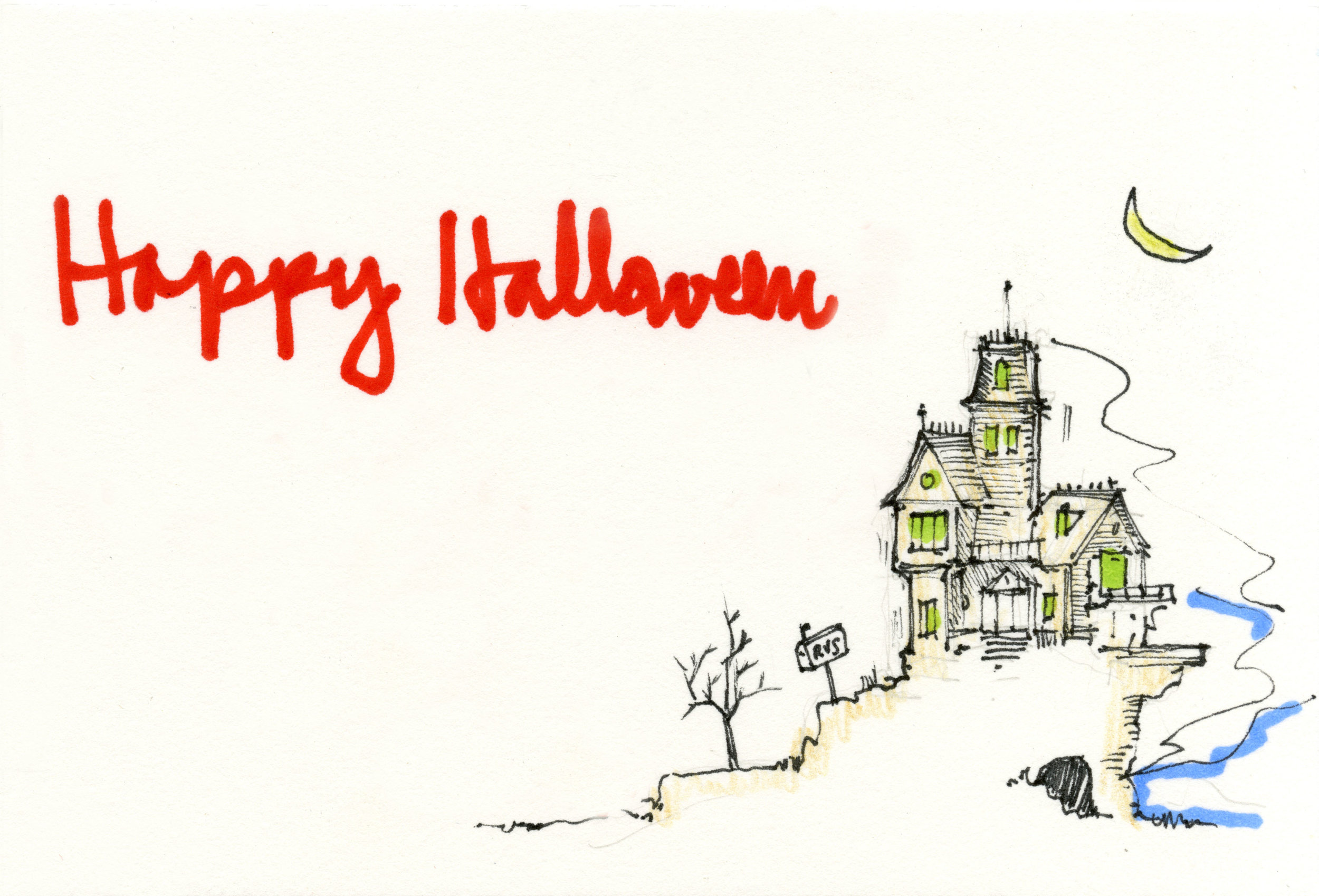 Card Five : The Haunted House