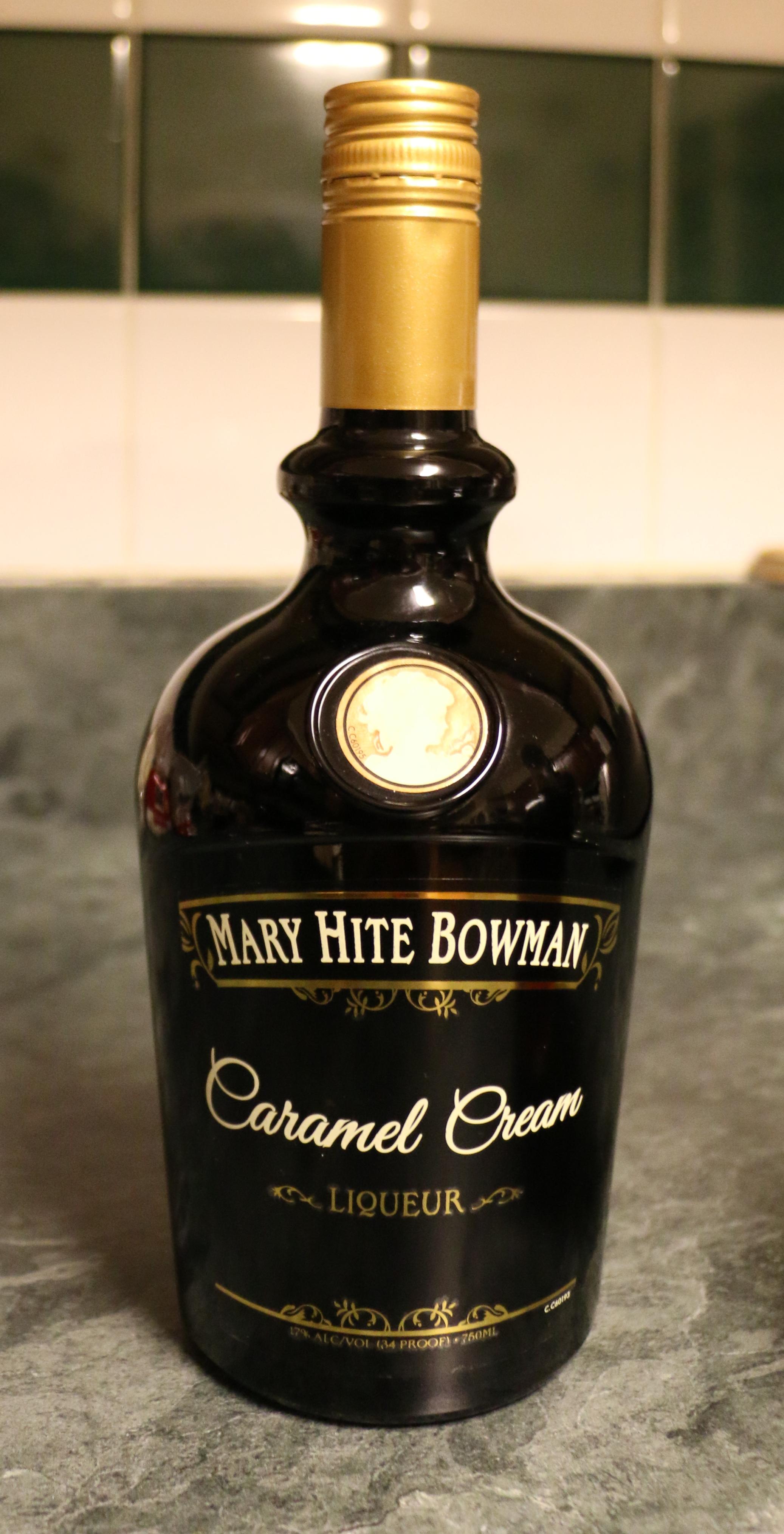 Mary Hite Bowman Caramel Creme Liqueur