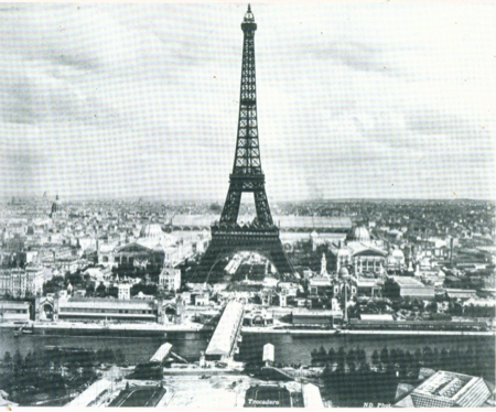 Figure 1: Eiffel Tower, Anonymous View of the Tower, 1889, photograph.