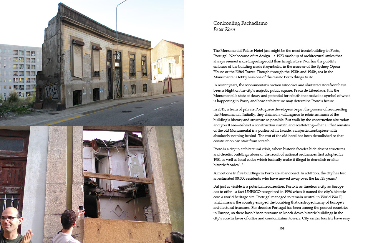 """""""Confronting Fachadismo"""" by Peter Korn. Reporting from Porto, Portugal."""