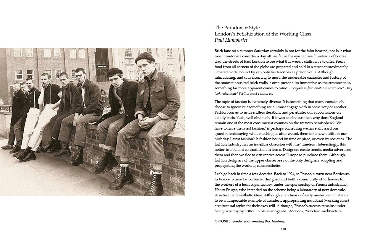 """""""The Paradox of Style — London's Fetishization of the Working Class"""" by Paul Humphries."""