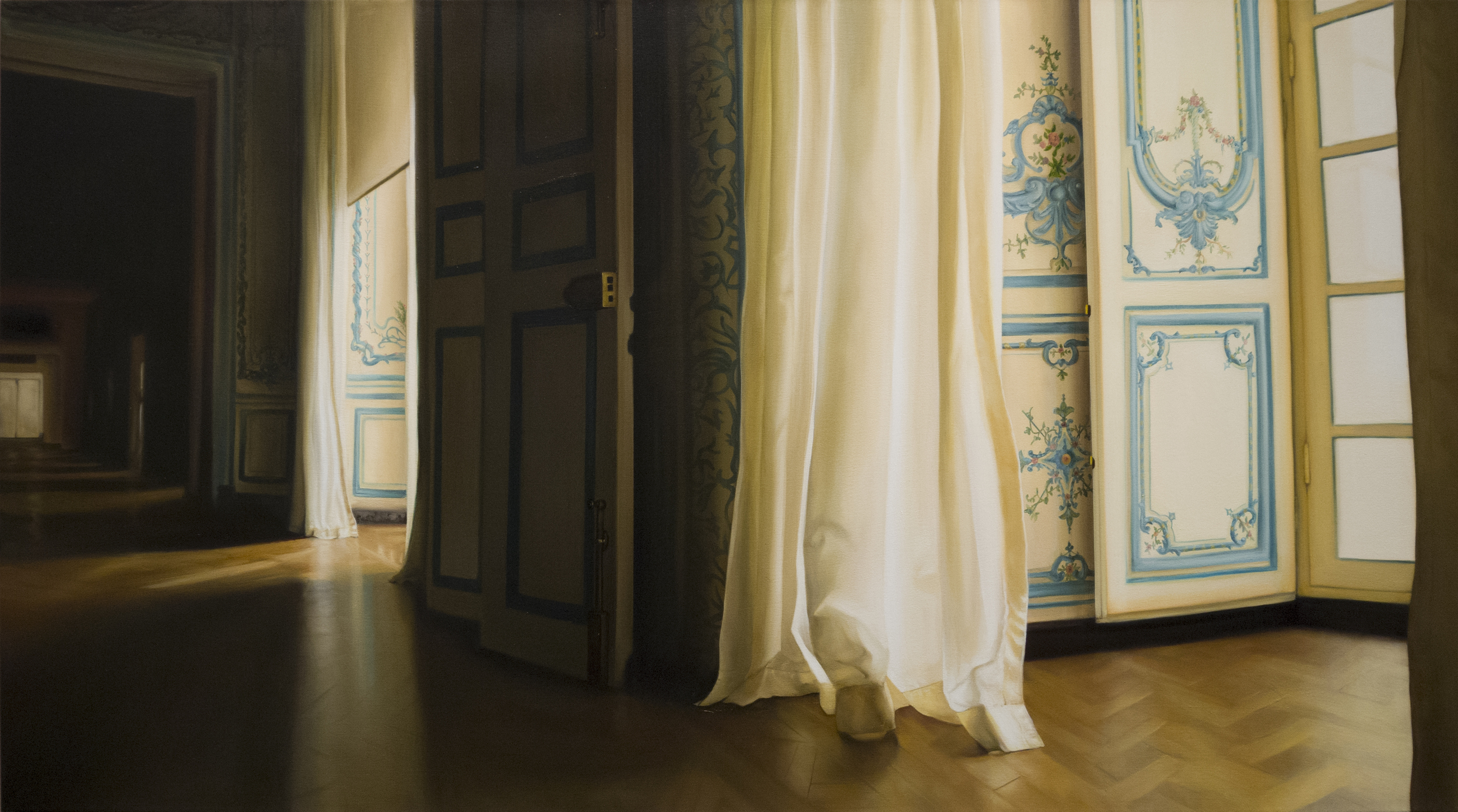 "OIl on Canvas, 64"" x 36"", 2012"