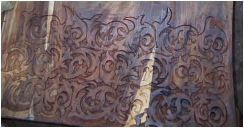 Raw Handcarved Door