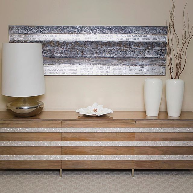 New credenza with mother of pearl from #rozefurniture #luxurydesign