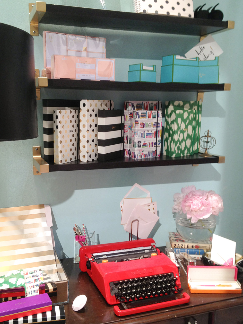 Such an inviting setting at the   Kate Spade   booth by   Lifeguard Press