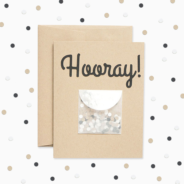 Evermore Hooray Confetti Card
