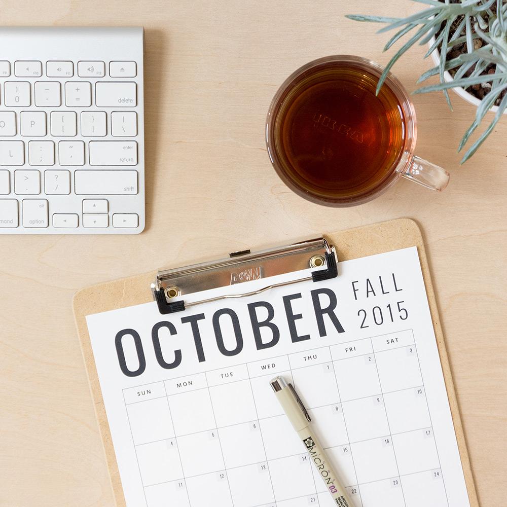 Calendar Download via Evermore Paper Co.