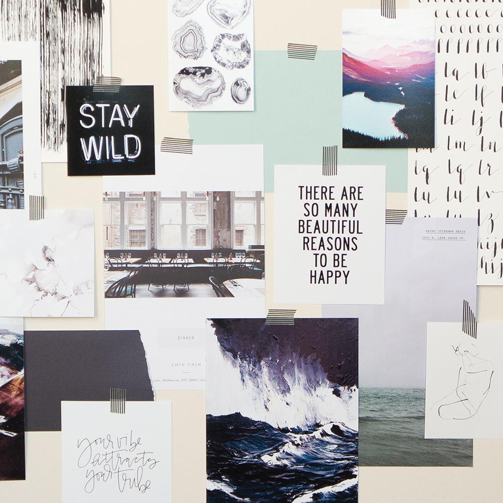 Mood board via Evermore Paper Co.