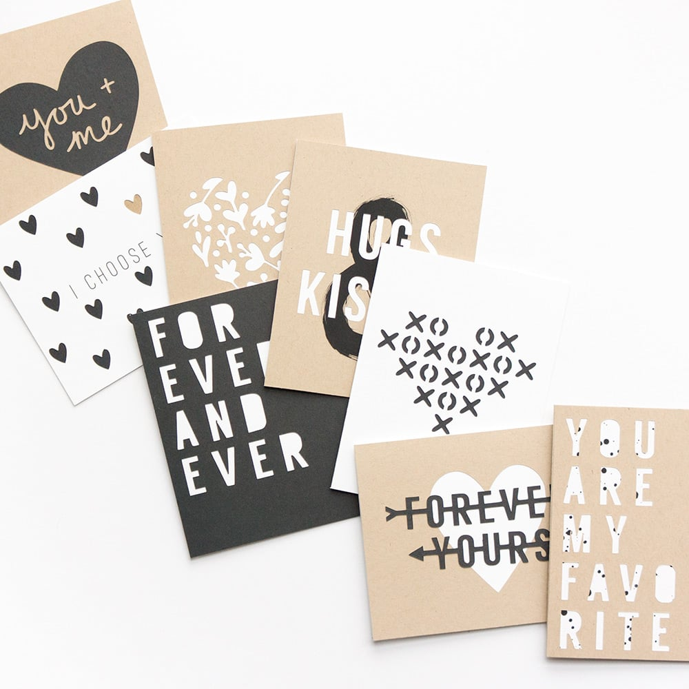 Modern valentines from Evermore Paper Co.