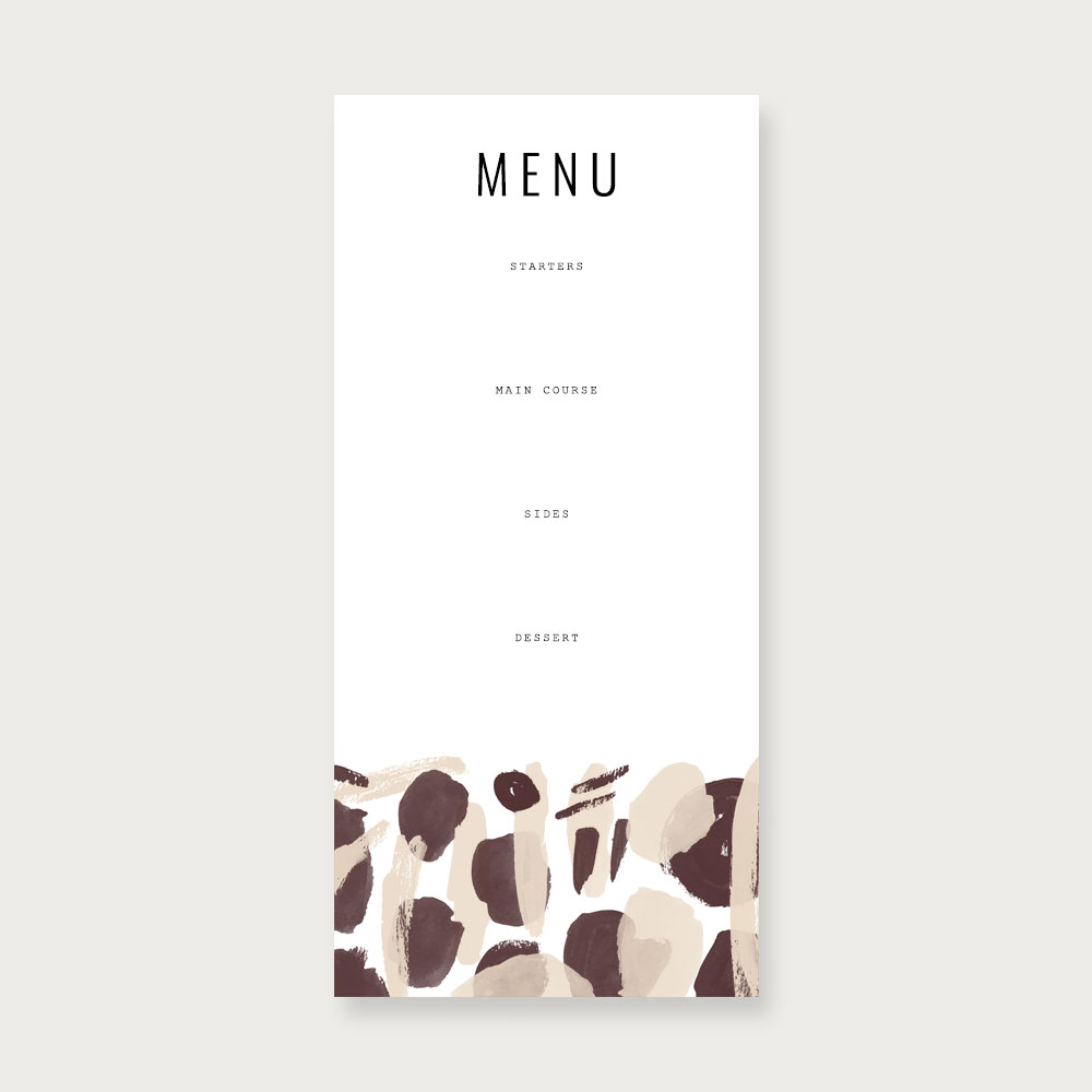 Fall Feast Printables | Dinner party menu by Evermore Paper Co.