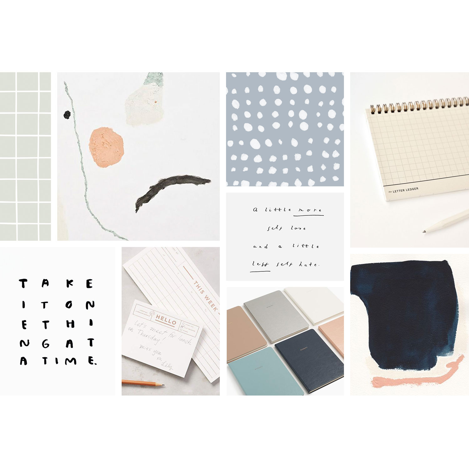 desktop goods mood board