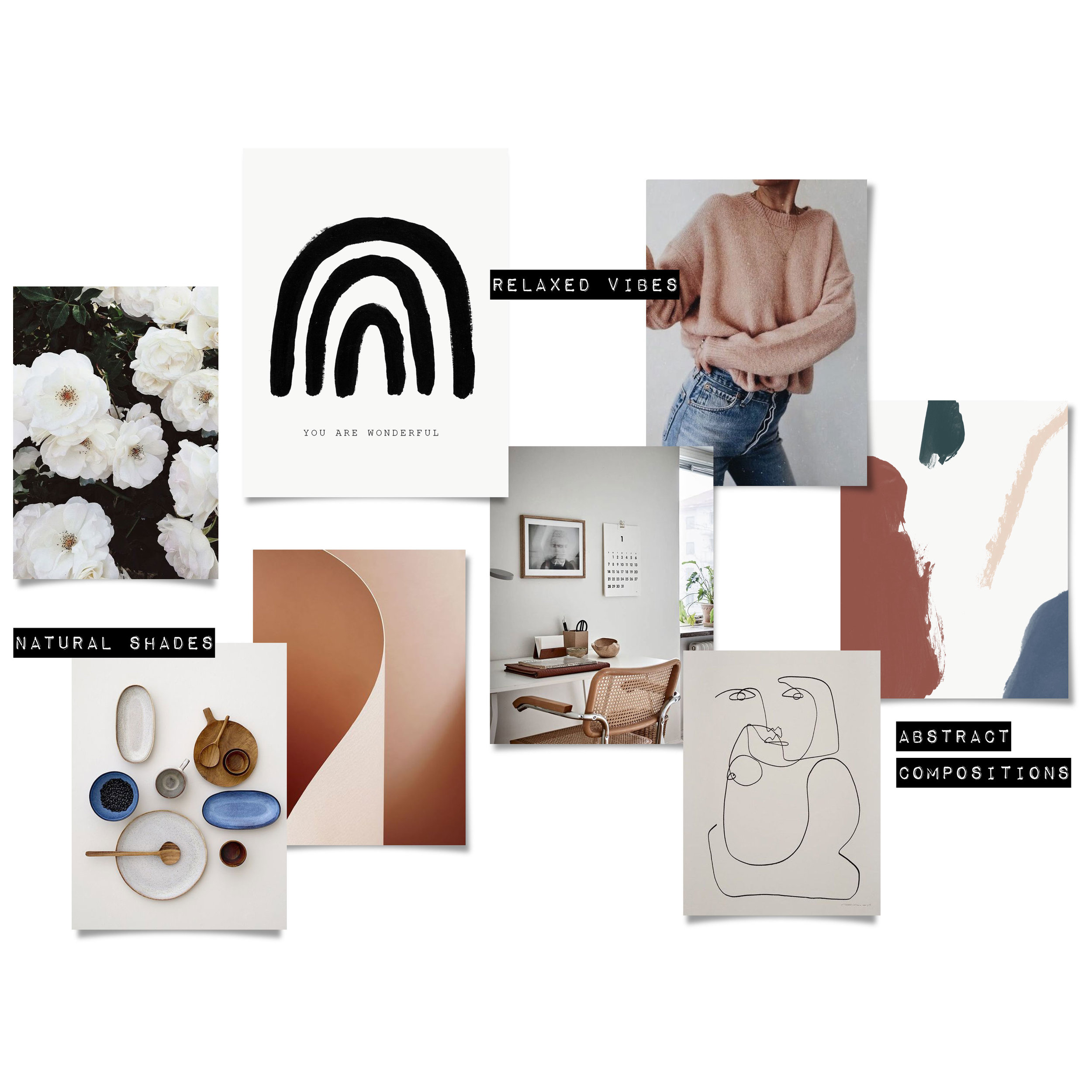 spring mood board | evermore paper co