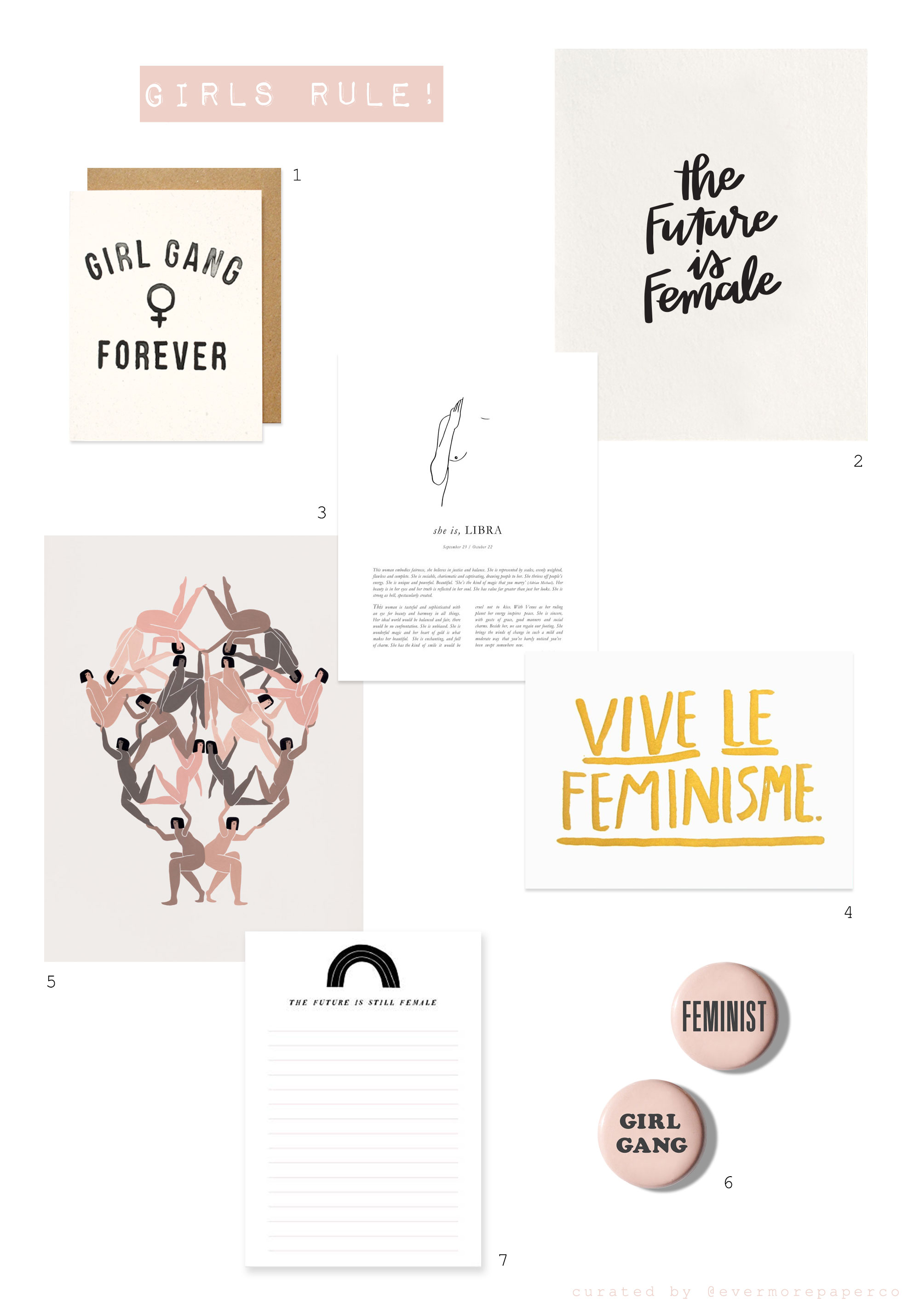 support your local girl gang | evermore paper co