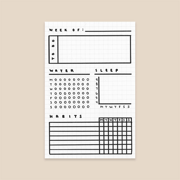 3 Simple Bullet Journal Templates - Habit Tracker