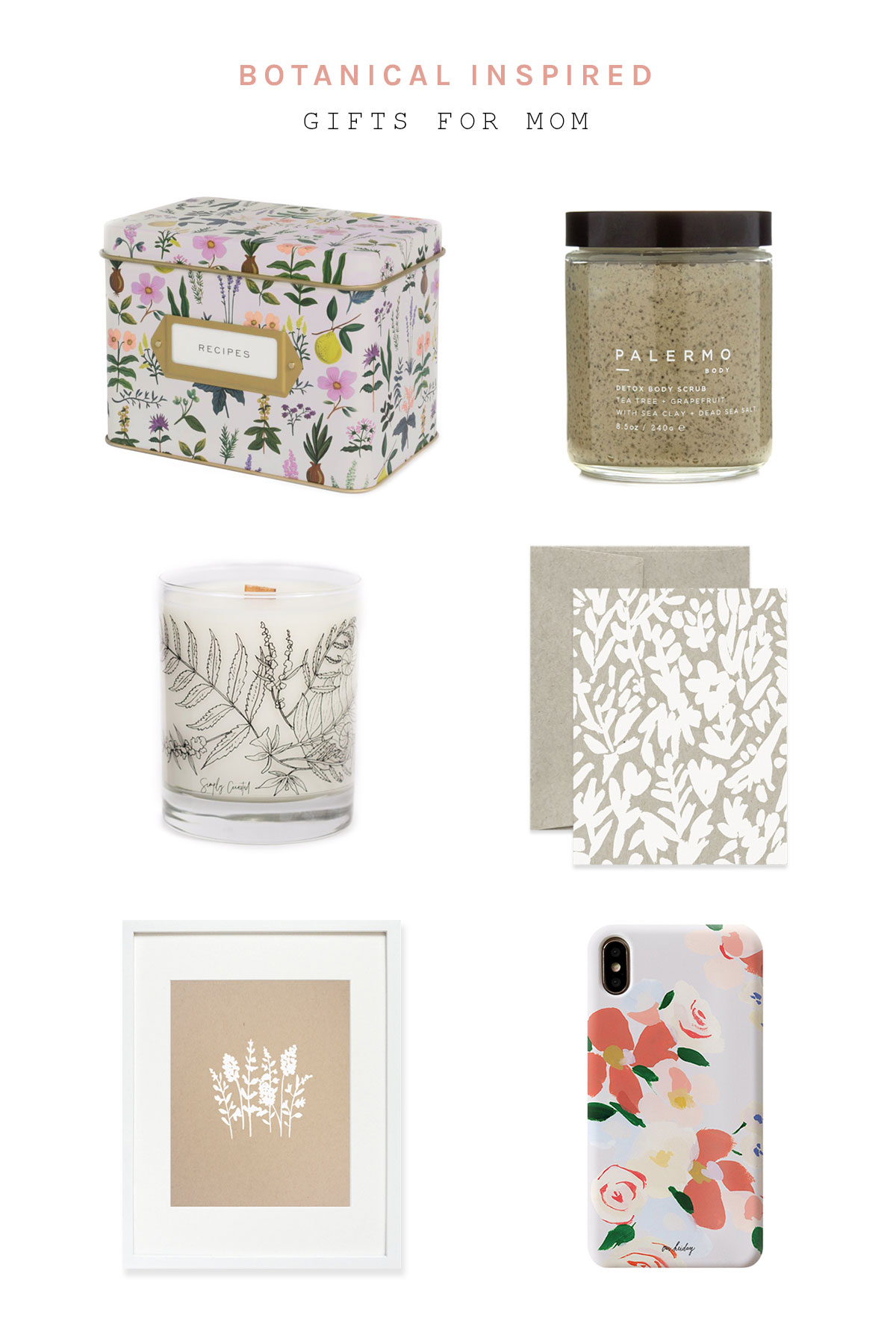 Botanical Inspired Gifts For Mom