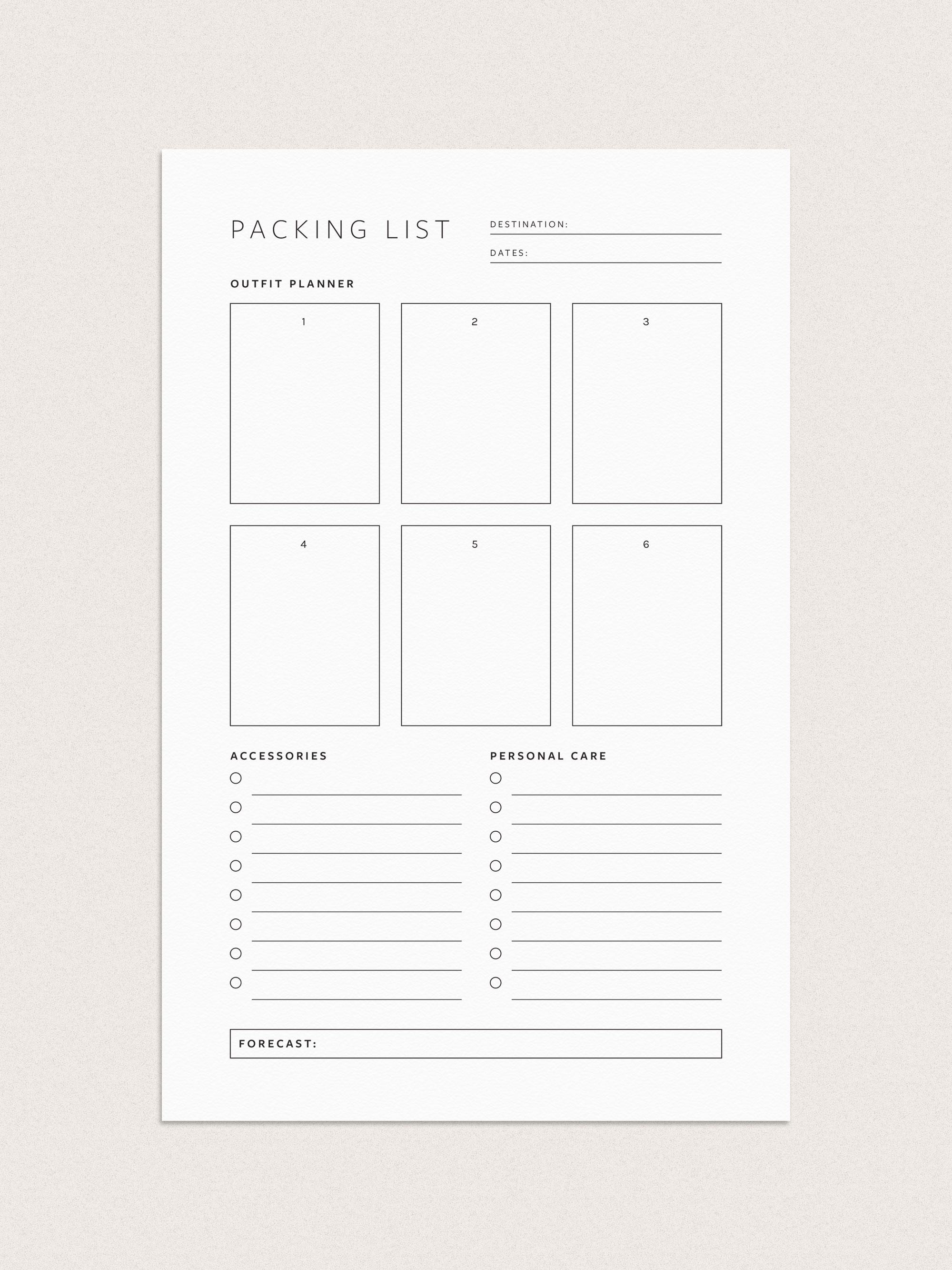 Free Printable Trip Planner