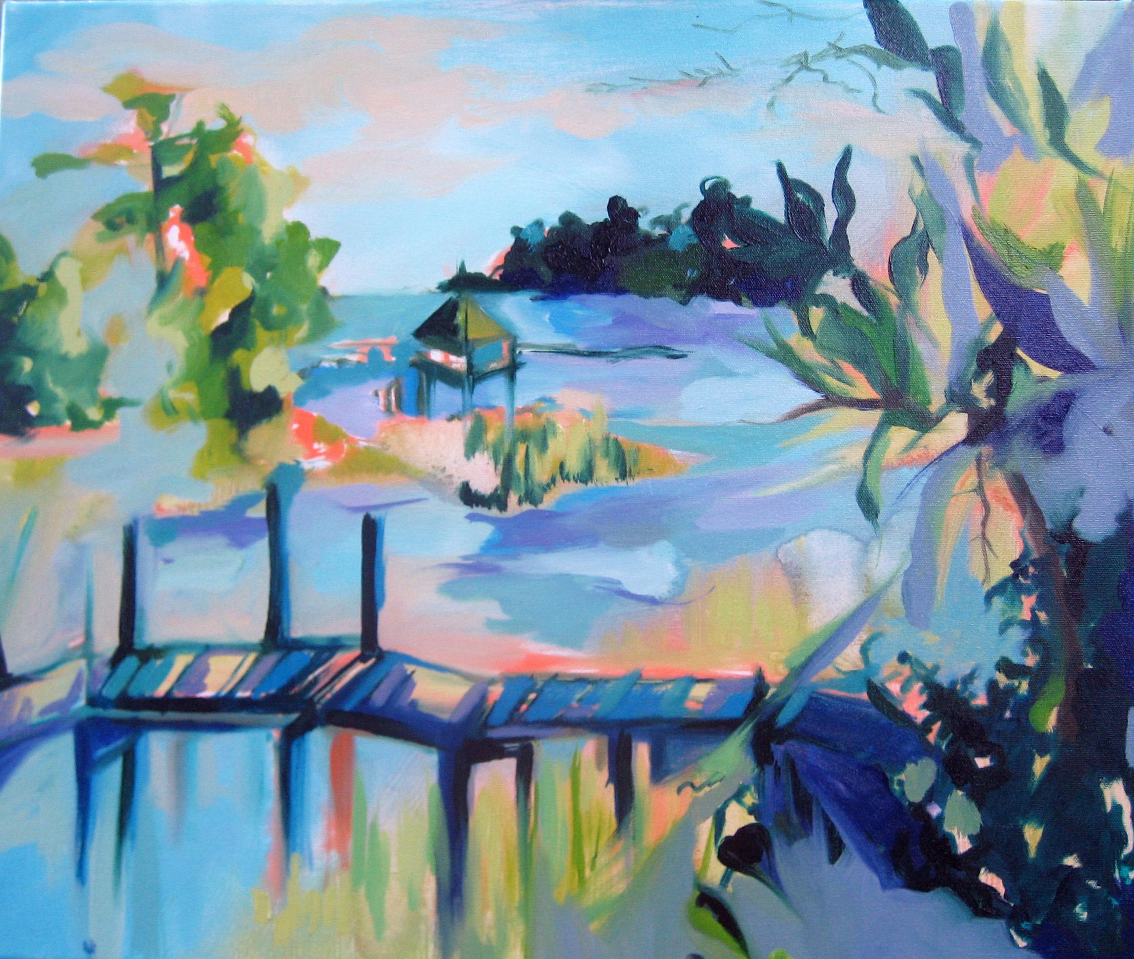 'Papa's Marsh', oil on canvas - SOLD