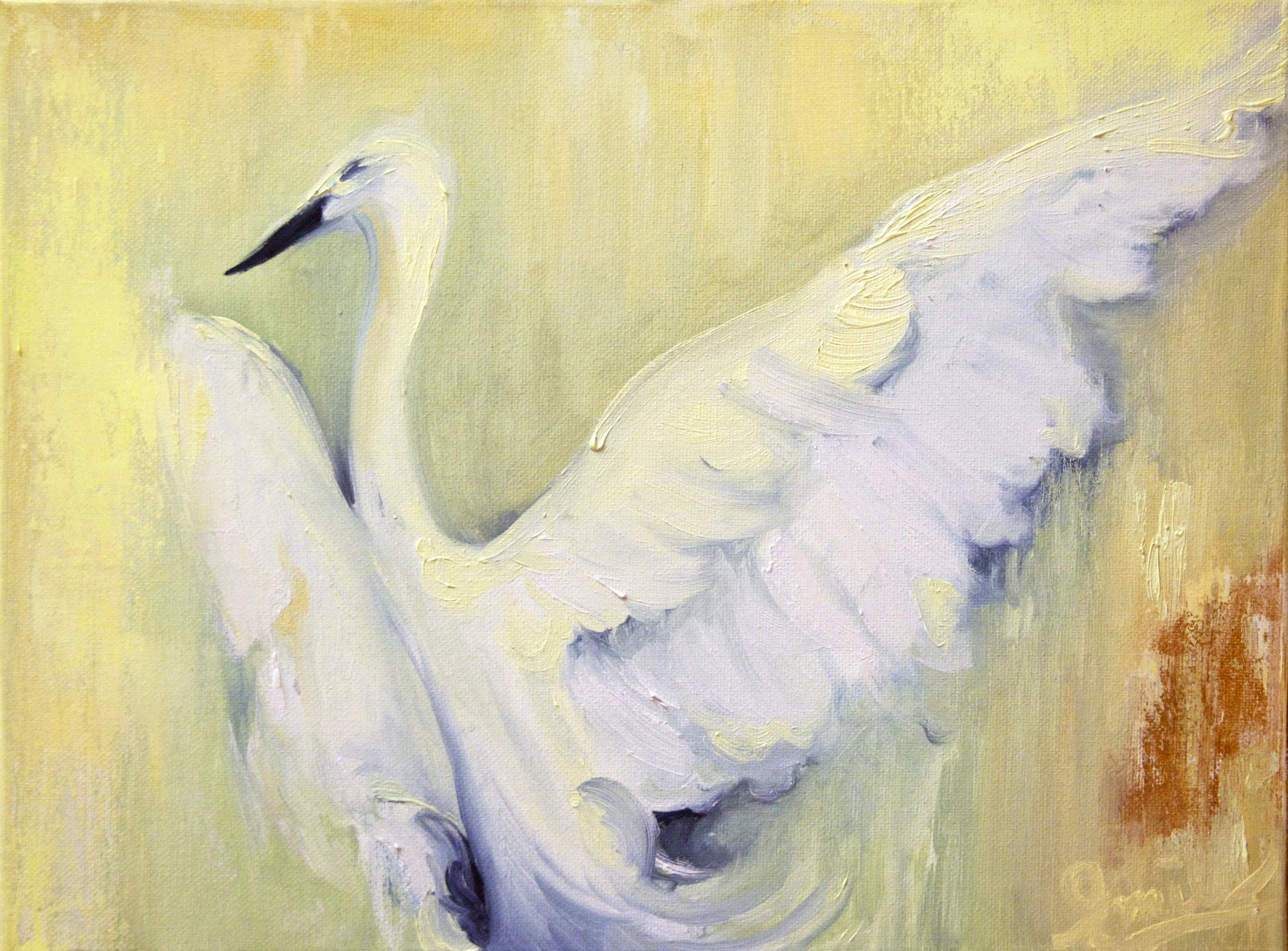 'Plume Dance', oil on canvas