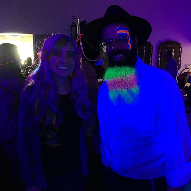It's glowing down for real at Chabad