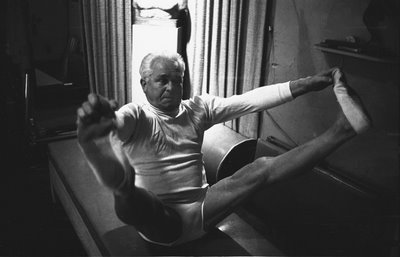 This is Joseph Pilates, founder of Pilates. He originally started Pilates to help rehabilitate injured soldiers during World War I.