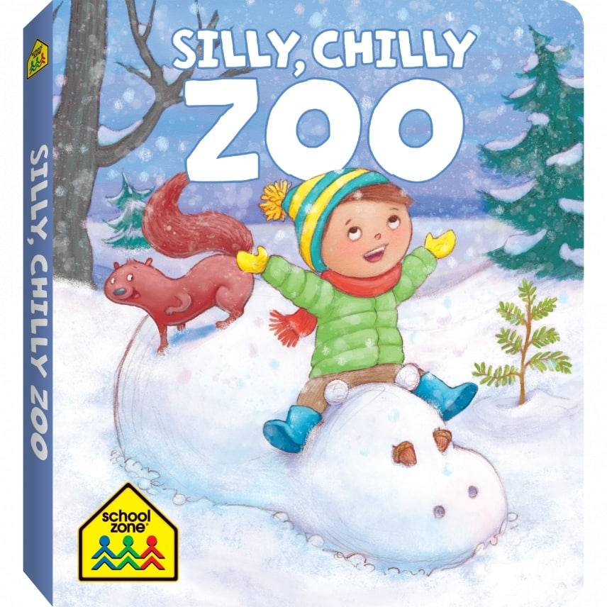 Silly, Chilly, Zoo    Karen Hoenecke (Author) Laura Zarrin (Illustrator)  DELIGHTFUL - Show your child the sparkle and magic of winter! Board books are a great way to introduce infants to reading and to continue cultivating it with toddlers and preschoolers. The rhyming story in this Silly, Chilly Zoo board book follows two kids who use their imaginations to create a zoo in a winter wonderland. Sure, you've seen a snowman, but what about a snow snake? A snow tiger? Watch the smiles as little ones see their favorite animals in a whole new light with this adorable board book. Colorful illustrations provide visual stimulation and provoke curiosity. Durable pages with rounded corners are designed for little hands to easily manage. Develop rhyming and reading readiness skills, while expanding vocabulary and also celebrating the joy of creativity.   Amazon   Book Depository