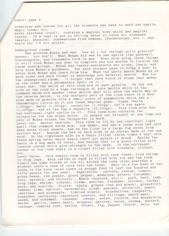 Second page of descriptions.