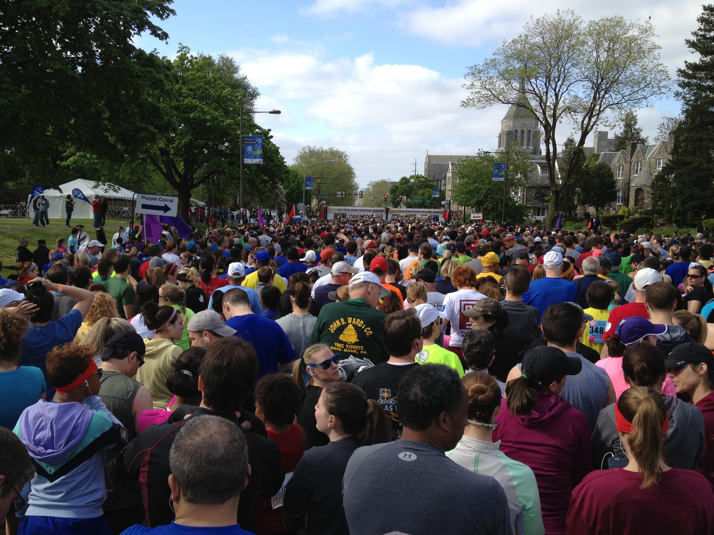 Getting ready to start the race.