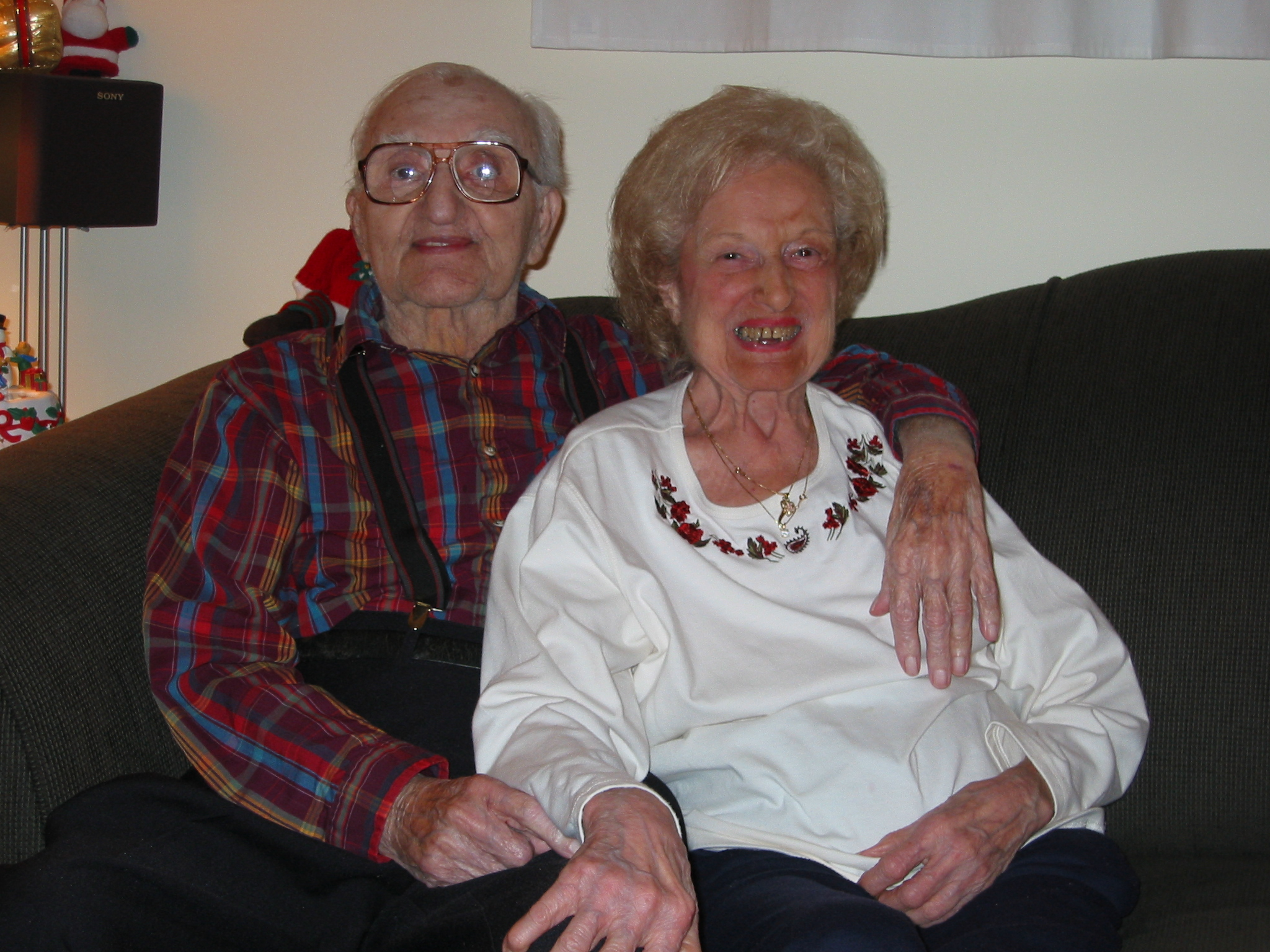 My grandparents at Christmas 2002.